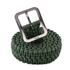 OUMILY Handmade Outdoor Survival Parachute Cord Paracord Belt - Green Army