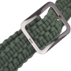 OUMILY Handmade Outdoor Survival Parachute Cord Paracord Belt - Army Green
