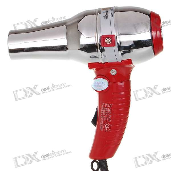 800W Foldable Cool/Hot Hair Blow Dryer - Red (220V AC)