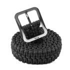 OUMILY Handmade Outdoor Survival Parachute Cord Paracord Belt - Black