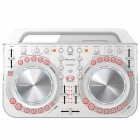 Genuine Pioneer DDJ- WeGO2 Compact & Affordable DJ Controller with Lightning Cable - White (New)