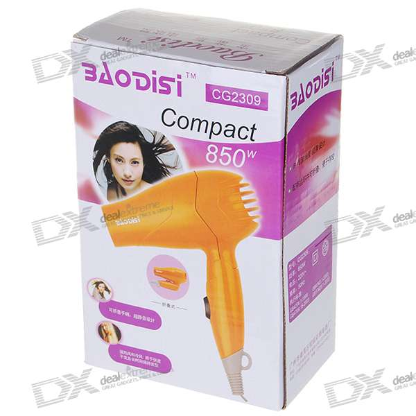 850W Foldable Cool Hot Hair Blow Dryer