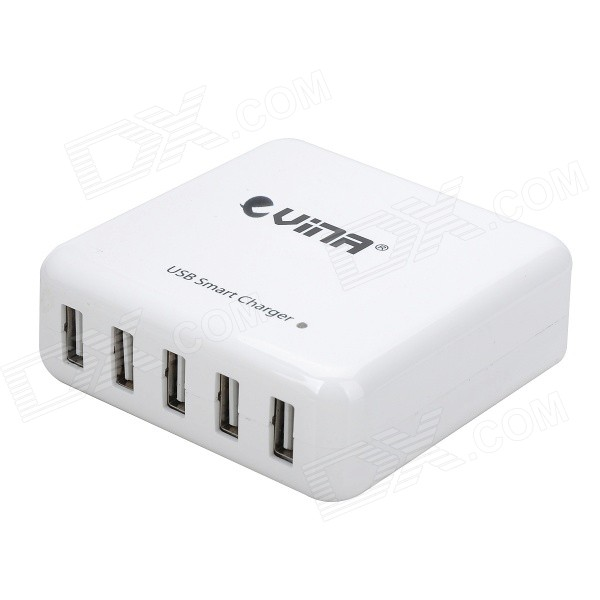 Vina Portable Safety Smart 40W 8A High Speed ​​5-Port lader for Mobil / Tablet PC (US Plugger)