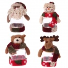 Lovely Christmas Candy Jar - Red + Green + Multi-colored (4PCS)