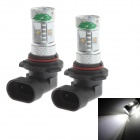 Zweihnder 9006 30W 2800lm 6500K 6-SMD 3535 LED White Light Car Foglight (12-24V / 2 PCS)