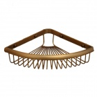 Y3201 Retro Double-Layer-Dreiecksnetz Basket Design Corner Kupferspeicher Shelf Rack-- Antique Brass