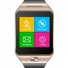 Quad-band GSM Bluetooth Smart Watch Phone w/ 1.54'' Capacitive Screen, FM, BT - Golden