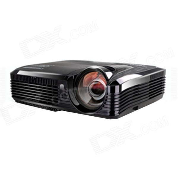 Zeco ES80 Short Focus DLP High Definition Home Mini Projector Supports HDMI /VGA - Black