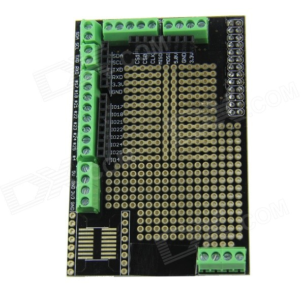 DIY Prototyping Expansion Board for Raspberry PI B - Black