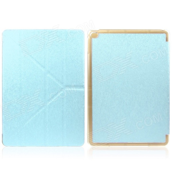 Mr.northjoe Protective PU Leather Case w/ Stand / Auto Sleep for IPAD AIR 2 - Light Blue mr northjoe protective pu leather case w stand auto sleep for ipad mini 1 2 3 light brown
