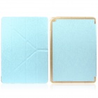 Mr.northjoe Protective PU Leather Case w/ Stand / Auto Sleep for IPAD AIR 2 - Light Blue