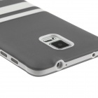Hat-Prince Protective TPU Soft Case for Samsung Galaxy Note 4 N9100 - Grey + White