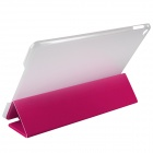 ENKAY ENK-3504 Ultra-thin Protective PU Case w/ 3-Fold Stand / Auto Sleep for IPAD AIR 2 - Deep Pink