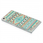 Geometric Pattern Plastic Back Cover Case for Huawei P6 - Light Green + Multicolor