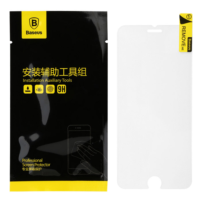 Baseus 0.33mm Tempered Glass Screen Protector for IPHONE 6 PLUS - Transparent baseus 0 33mm tempered glass screen protector for iphone 6 plus transparent