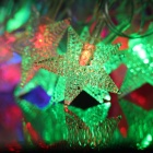 3W 28-LED RGB Star Light em forma de lâmpada decorativa de Natal Luz String (5M / 110V / UE Plug)
