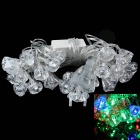 3W 650lm 28-LED RGB Light Diamond Shape Christmas Decorative Lamp Light String (5M / 110V / EU Plug)