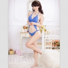 Women's Sexy Lace One-Piece Lingerie Underwear - Blue