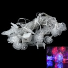 3W 650lm 28-LED RGB Light Heart Shaped Christmas Decorative Lamp Light String (5M / 110V / EU Plug)