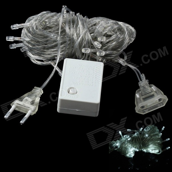 3W 250lm 560nm 50-LED Lake Green Light Christmas Decorative Lamp Light String (10M / EU Plug)