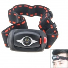 HX Outdoor DT033 3-Mode LED White Light Headlamp - Black (3 x AAA)