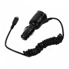 Mini 5.0V 2A/ 2.1A Dual USB Car Charger w/ Micro USB Charging Cable for Samsung / HTC - Black