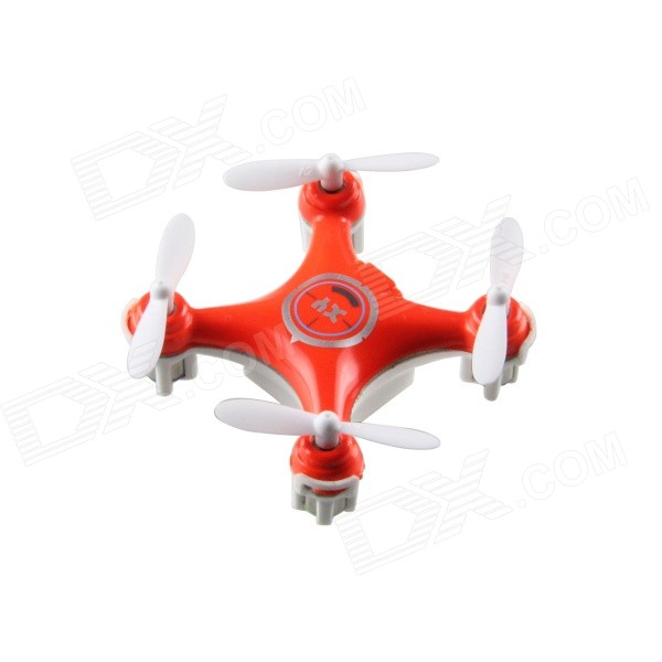 2.4GHz 4-Channel 6-Axis Indoor Mini UFO w / Gyro / LED Light - Orange