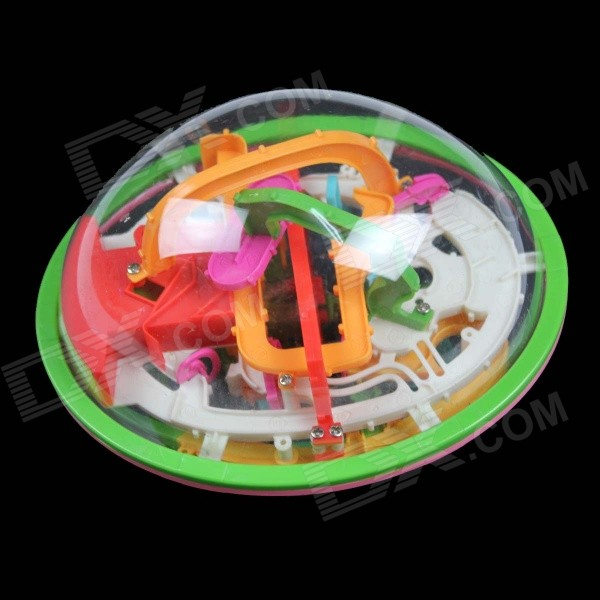 Super 189 Level Moon UFO Flying Saucer Maze Ball Toy - Transparent + Green
