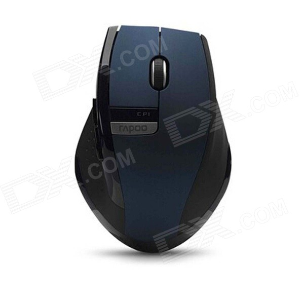 Rapoo M350 1000DPI 2.4GHz Wireless Optical Ergonomic Mouse - Blue + Black motospeed g310 fashion wireless 1000dpi optical mouse black red 1 x aa