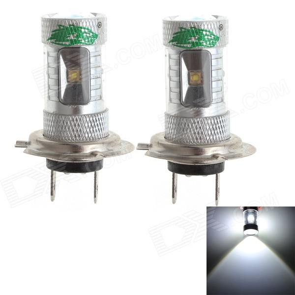 Zweihnder H7 30W 2800lm 6500K 6 x 3535 SMD LED White Light Car Foglight (12-24V / 2 PCS)