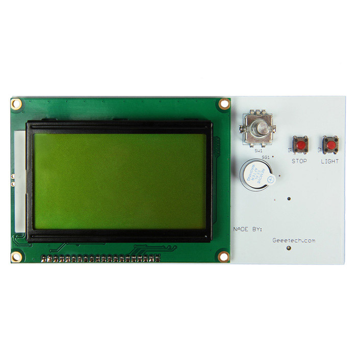 Geeetech Reprap LCD12864 Smart Controller Display for 3D Printers - WhiteLCD, LED Display Module<br>ColorWhiteBrandGeeetechModelLCD12864Quantity1 PieceMaterialPCB + Electronic ComponentsScreen TypeOthers,STNScreen Size3 inchResolutionOthers,128 x 64Working Voltage   3.3 ~ +5 VWorking Current1 mAEnglish Manual / SpecNoOther FeaturesSupply voltage: 5VPacking List1 x Smart LCD12864 Display 2 x Cables (30cm)1 x Adapter<br>