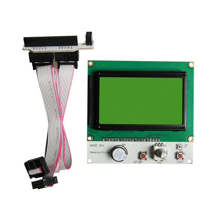 Geeetech Reprap LCD12864 Smart Controller Display for 3D Printers - White tumo int 60 amp pwm smart solar controller 48v input with lcd display