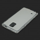 Protective Flip-Open TPU + Silicone Case for Samsung Galaxy Note 4 (N9100) - Transparent White