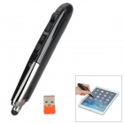 PR-08 2.4GHz Wireless Laser Pen Mouse w/ USB Receiver - Black