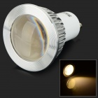 JRLED GU10 3W 300lm 3300K COB LED Warm White Light Spotlight - White + Transparent (AC 85~265V)