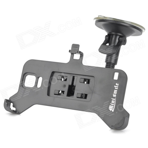 Bendable Car Mount Holder w/ Suction Cup for Samsung Galaxy Note 4 / N9100 - Black 360 degree rotational car mount holder w suction cup for samsung galaxy note 3 n9000 n9002