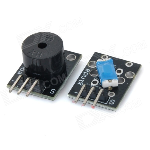 все цены на Passive Buzzer + Tilt Switch Module - Black онлайн