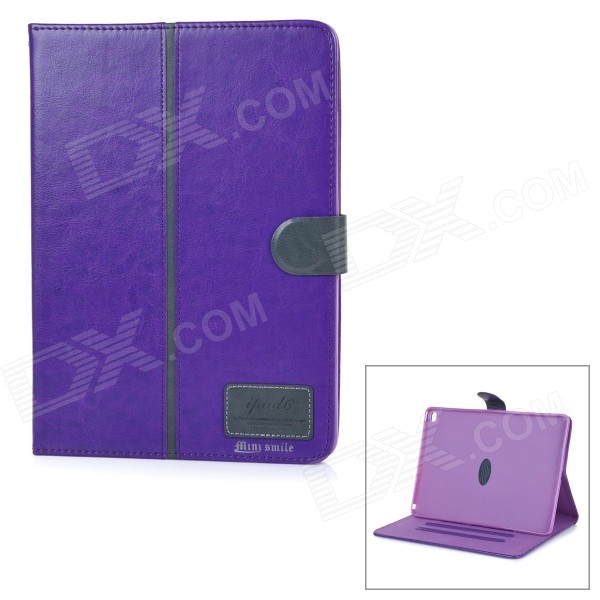 Protective Flip-Open PU + TPU Case Cover w/ Stand / Card Slots for IPAD AIR 2 - Purple Wichita Покупка б у
