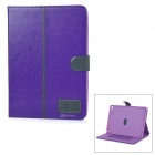 Protective Flip-Open PU + TPU Case Cover w/ Stand / Card Slots for IPAD AIR 2 - Purple