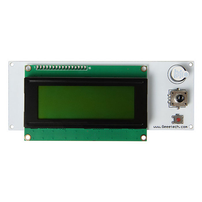 Geeetech LCD2004 Smart Controller 3 STN LCD Display Module for 3D Printers - White + Green tumo int 60 amp pwm smart solar controller 48v input with lcd display