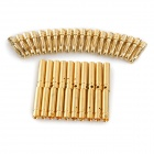 Universal Models DIY 4.0mm Male + Female Copper Plated Banana Connector Set - Golden (20 Pairs)