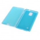 Protective Flip-Open TPU + Silicone Case for Samsung Galaxy Note 4 (N9100) - Transparent Blue