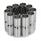 DIY Crafts Stainless Steel Magnetic Endcap Closure - Silver (10 Pairs)