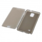 Protective Flip-Open TPU + Silicone Case for Samsung Galaxy Note 4 (N9100) - Transparent Grey