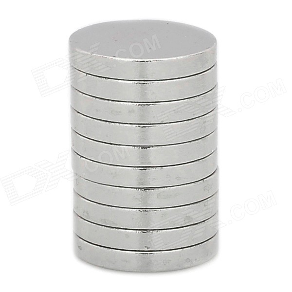 12 x 1.8mm NdFeB Round Magnets - Silver (10 PCS)