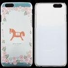 "Hobbyhorse Pattern Thin PC Protective Back Cover Case for 4.7"" IPHONE 6 - Cyan + Multicolored"