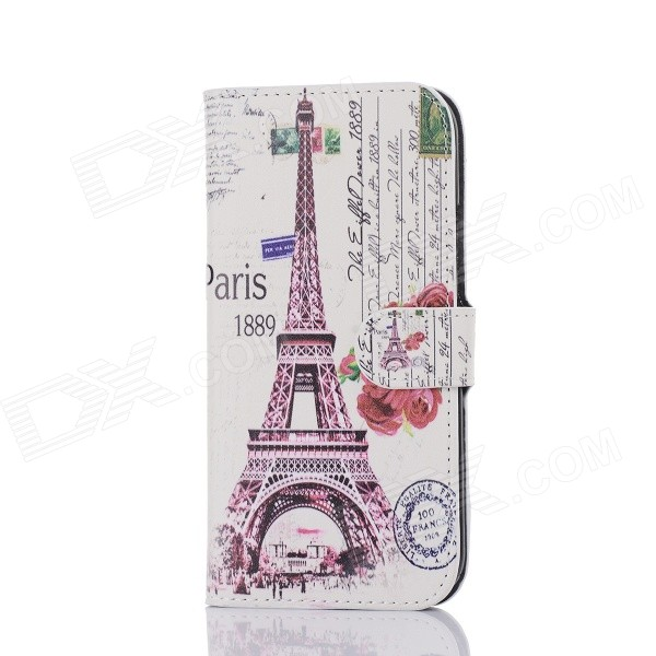 все цены на DF-005 Tower Pattern Protective PU Case w/ Card Slot / Stand for HTC One / M8 - Multicolored онлайн