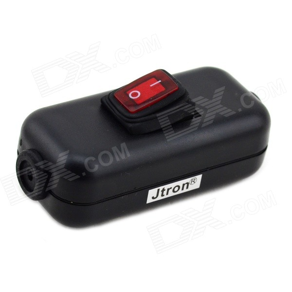 Jtron 04030059 Water Resistant On/Off Rocker Switch w/ Red Light for Electric DIY - Black + Red