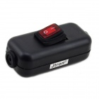 Jtron Water Resistant On/Off Rocker Switch w/ Red Light for Electric DIY - Black + Red
