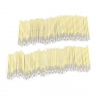 P125-G Gold-plated Copper Probes Set for Test / Research - Silver + Golden (100 PCS)